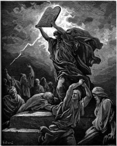 Moses Destroys Tablets
