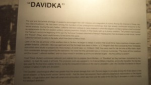 Davidka Plaque