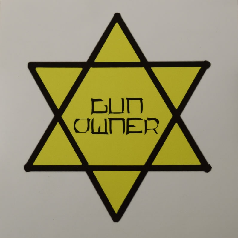 Gun Owner Star of David Stickers
